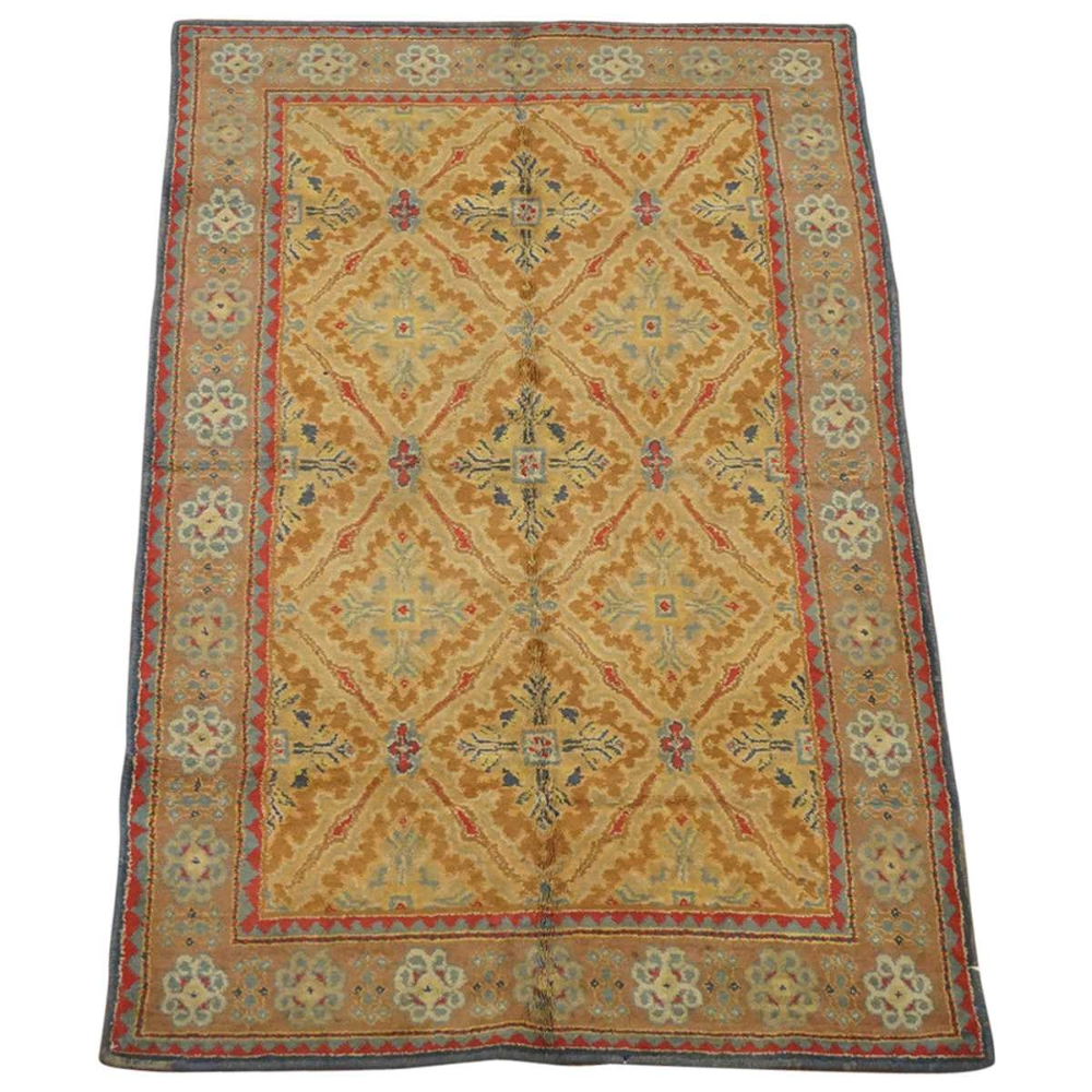 Hand Knotted Agra Rug 3 11 X 6 9 In 2020 Indian Rugs Antique Indian Rug Rugs