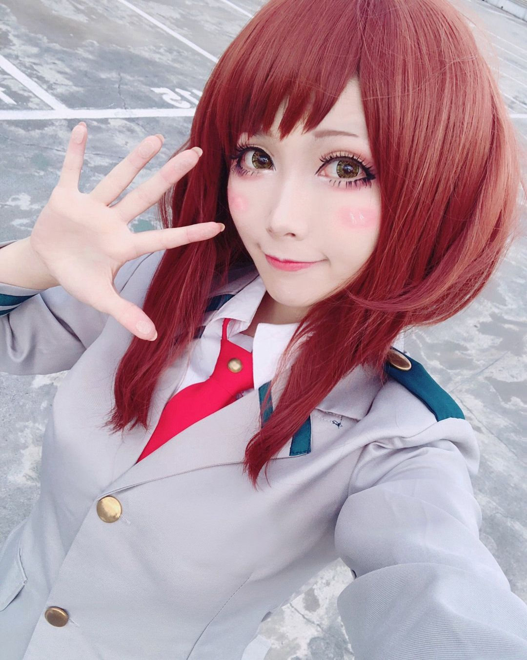 Gravity Girl, Uraraka cosplay!,GirlGravity Cute