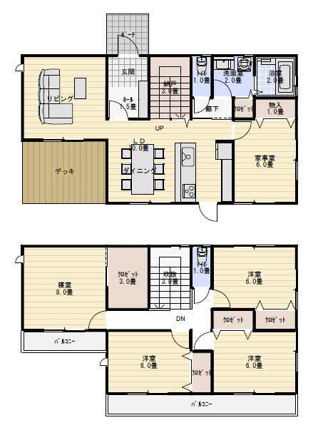 38坪5ldk家事室のある間取り 間取り 人気 間取り 35坪 間取り