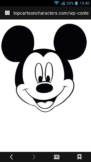Mickey Kalıplar Ve Modeller Mickey Mouse Clipart Mickey Mouse