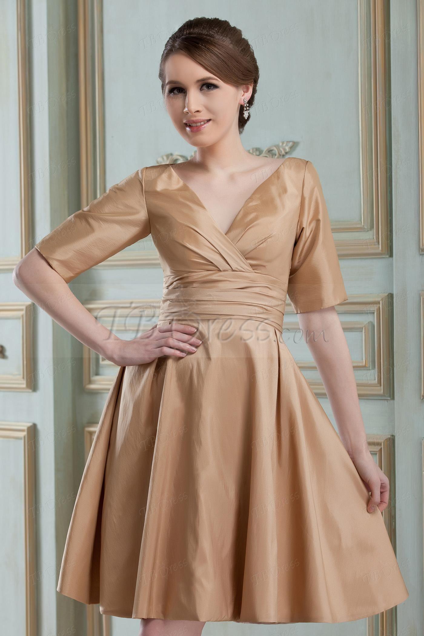 Charming ruched a line v neck bridesmaids dresses pinterest