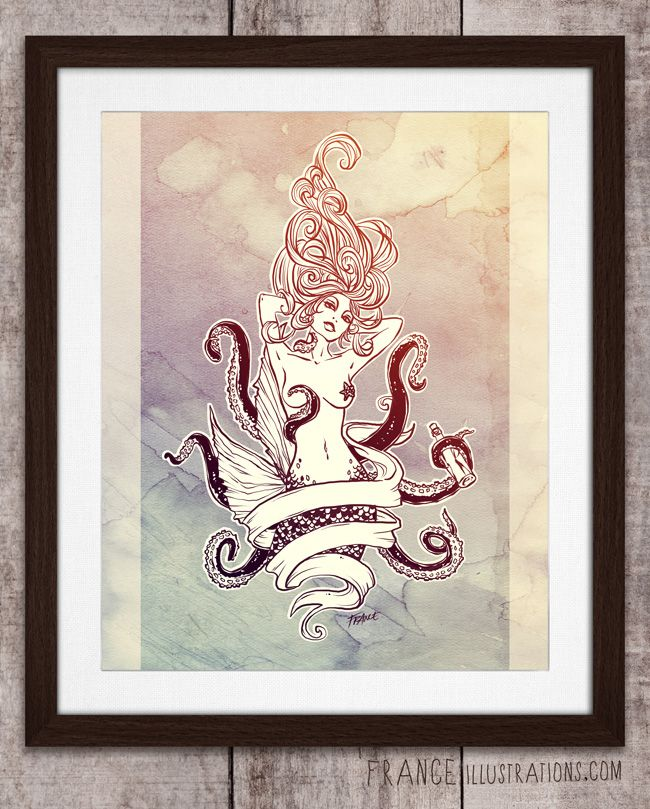 Sink or Swim is a tattoo design, available for download to