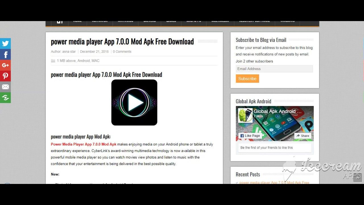 power media player App 7 0 0 Mod Apk Free Download | globalcrack com