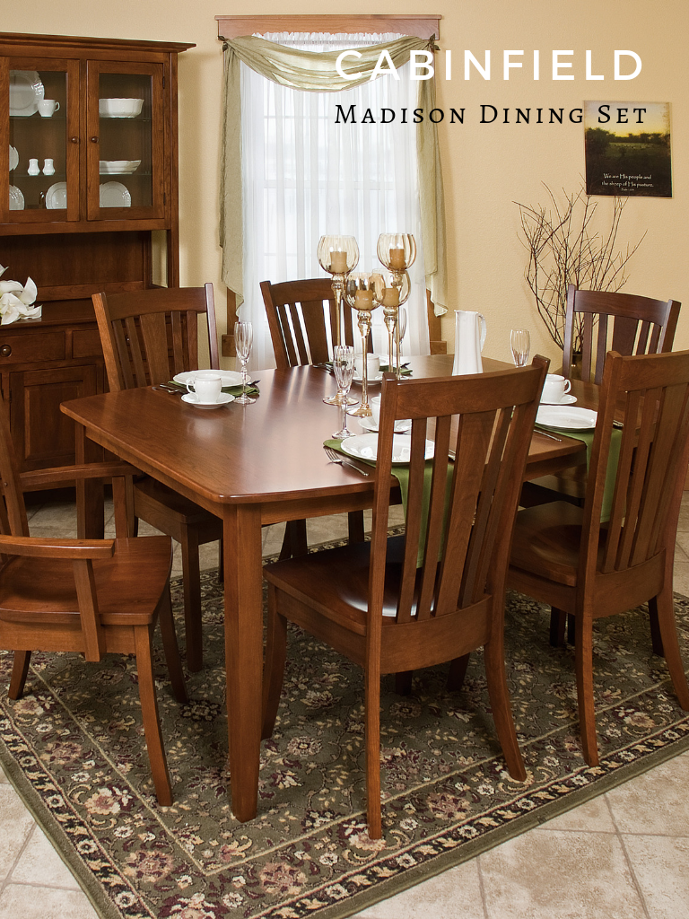 Madison Amish Dining Room Set Wooden Dining Set Wooden Dining