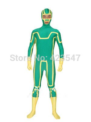 >> Click to Buy << Green & Yellow Lycra Kick-Ass Spandex Superhero Costume Party Halloween carnival costumes #Affiliate