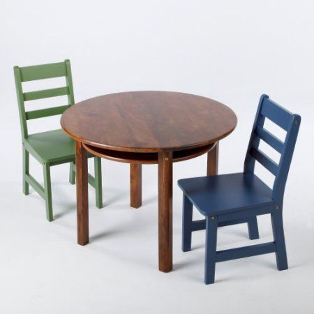 Great Lipper Childrens Walnut Round Table And 2 Chair Set Idea