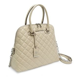 ec7d32c15c59 Shop for Adrienne Vittadini Cushion Quilted Dome Satchel-Ivory. Get free  delivery at Overstock - Your Online Handbags Shop! Get 5% in rewards with  Club O! - ...