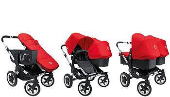 Bugaboo Donkey Base Aluminum Black Bugaboo Donkey Baby Strollers Double Strollers