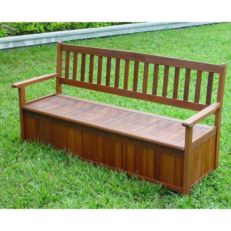 DIY Outdoor Storage Garden Storage Bench Hardwood