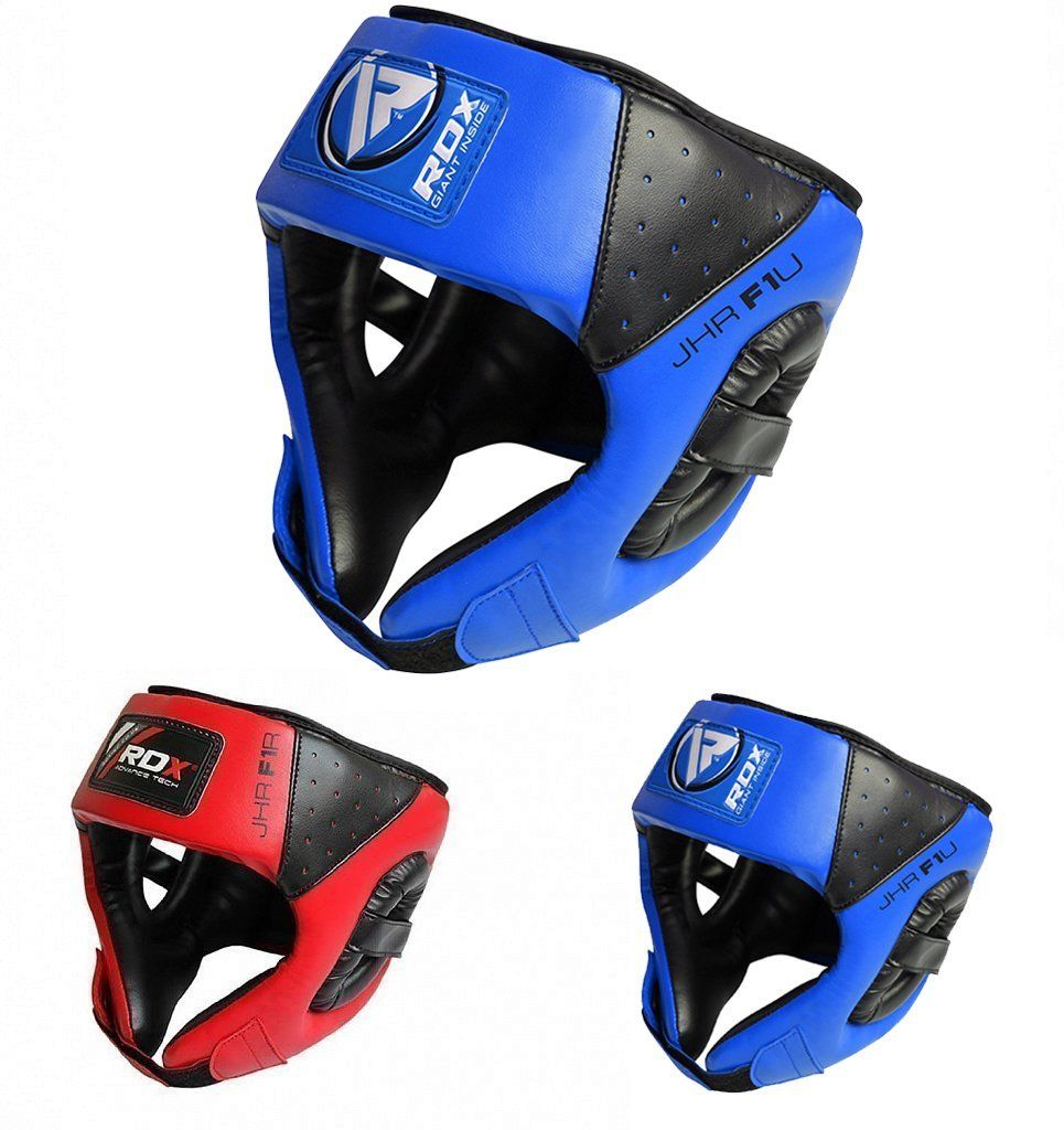 0007c4c6f70fe RDX Maya Hide Leather Kids Boxing MMA Headgear Junior Head Guard ...