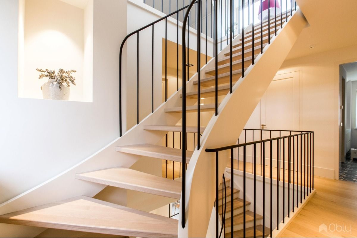 Kwartslag trappen trappen en decoratie
