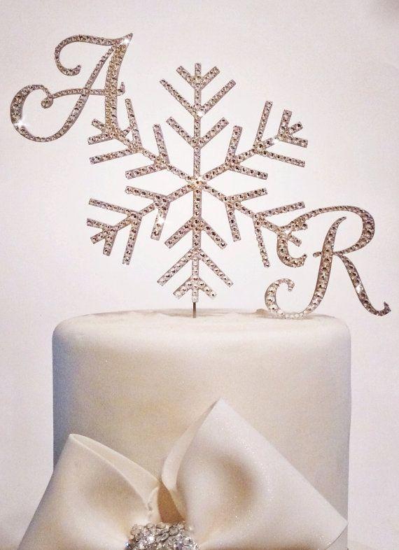 Custom Snowflake Cake Topper embellished with Swarovski crystals ...
