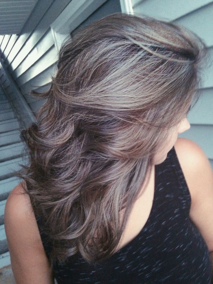 Pin By Kim On Hair Hair Highlights Blending Gray Hair Transition To Gray Hair