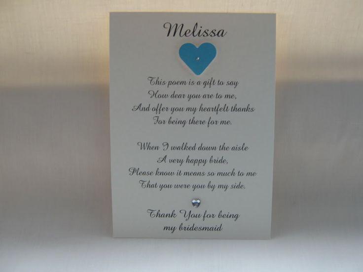 DIY Bridesmaids Survival Kit Poems | Bridesmaid thank you poem ...
