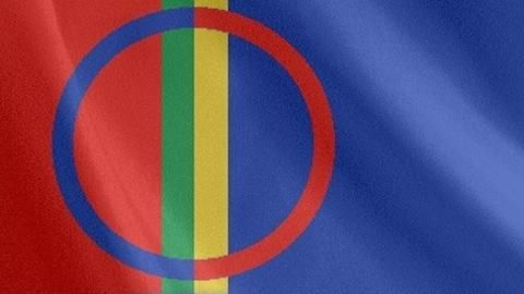 the flag of the Sámi people, the indigenous nation of the Nordic countries and the Kola Peninsula of the Russian Federation