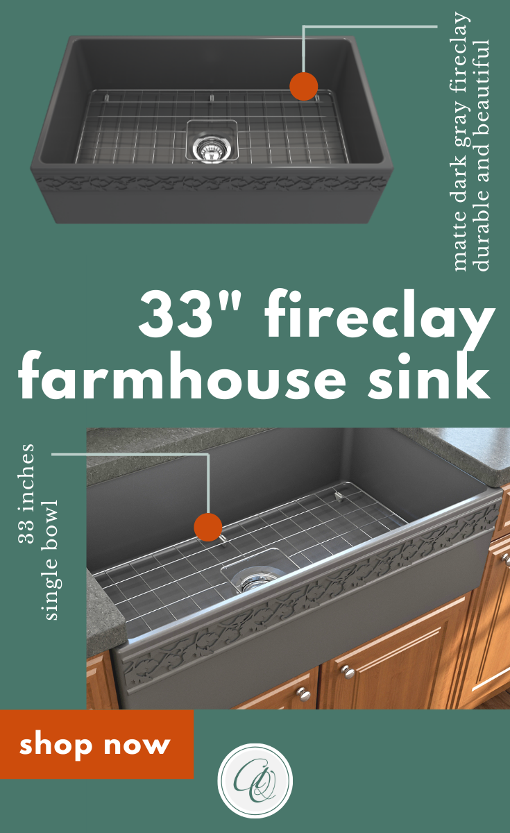 Bocchi Vigneto 33 Dark Gray Fireclay Single Bowl Farmhouse Sink W Grid In 2020 Farmhouse Sink Fireclay Farmhouse Sink Sink