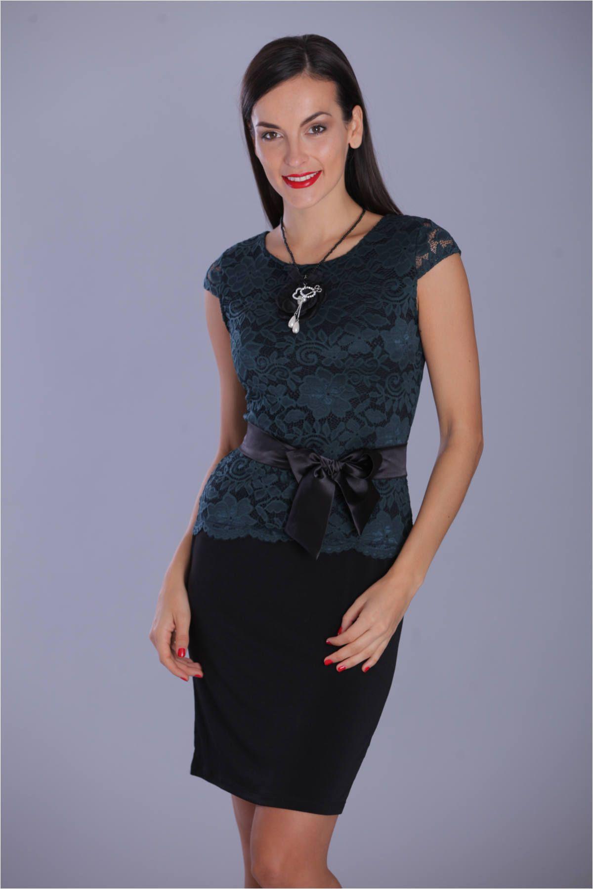 357f98e117 Lily csipkés ruha , szatén övvel - OUTLET - Blue Nature webshop ...: