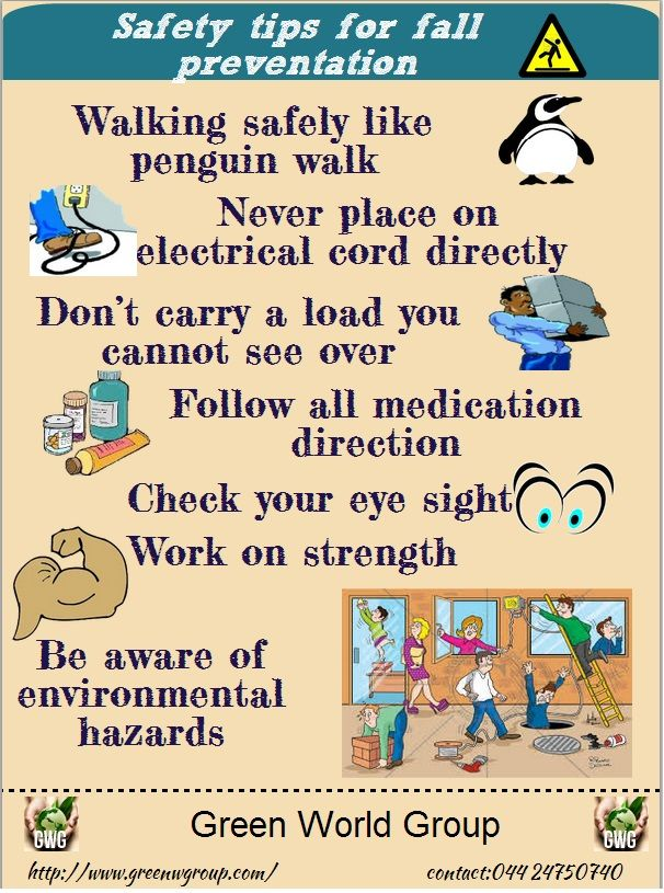 Safety tips for fall preventation.please aware while