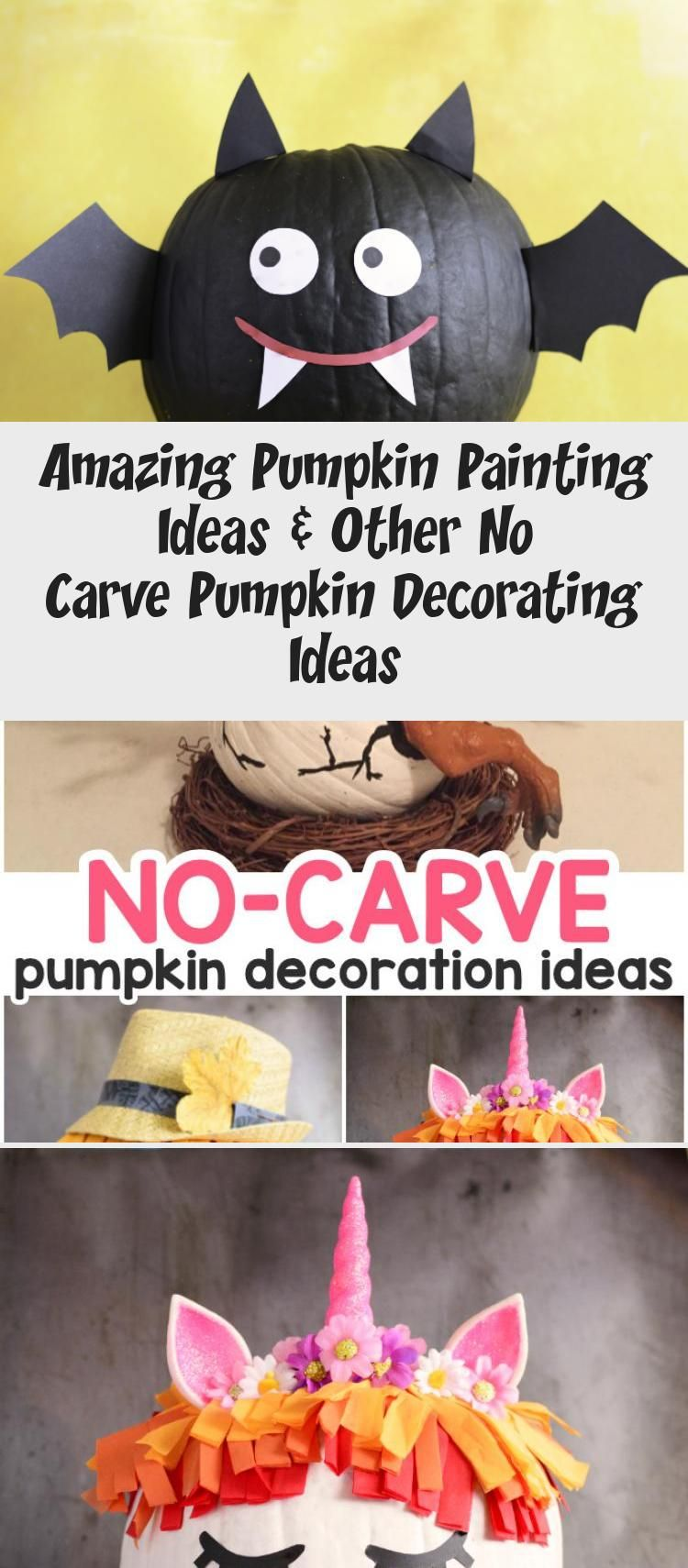 Amazing Pumpkin Painting Ideas & Other No Carve Pumpkin Decorating Ideas #Bathroompaintingideas #Smallpaintingideas #paintingideasTumblr #paintingideasInspiration #paintingideasLandscape #pumpkinpaintingideas
