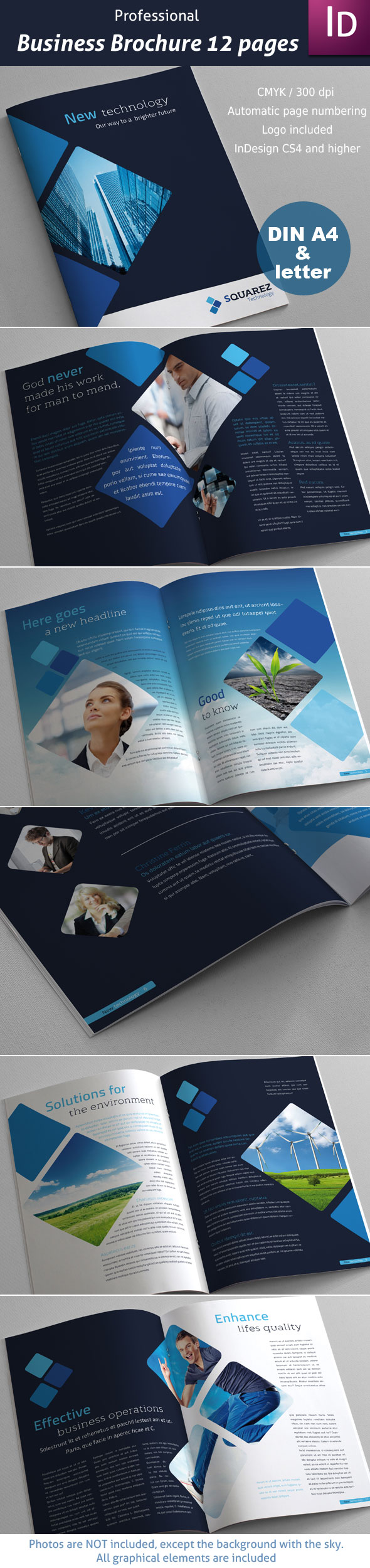 Business Brochure 12 pages by imagearea on deviantART I love how the shape is carried throughout