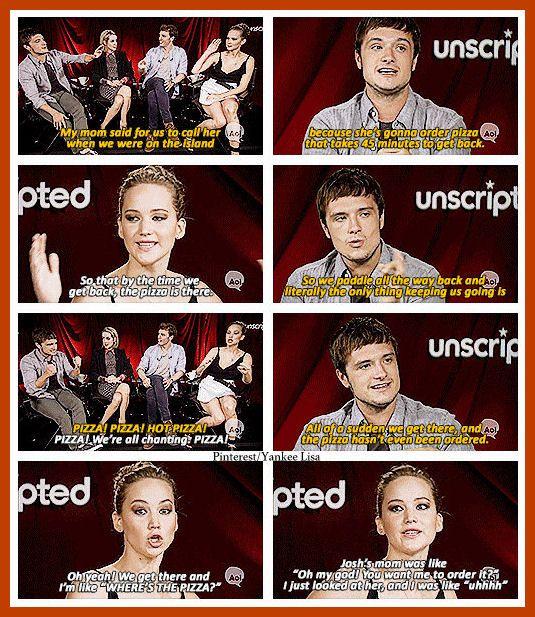 The Hunger Games Cast - Jennifer Lawrence and Josh Hutcherson