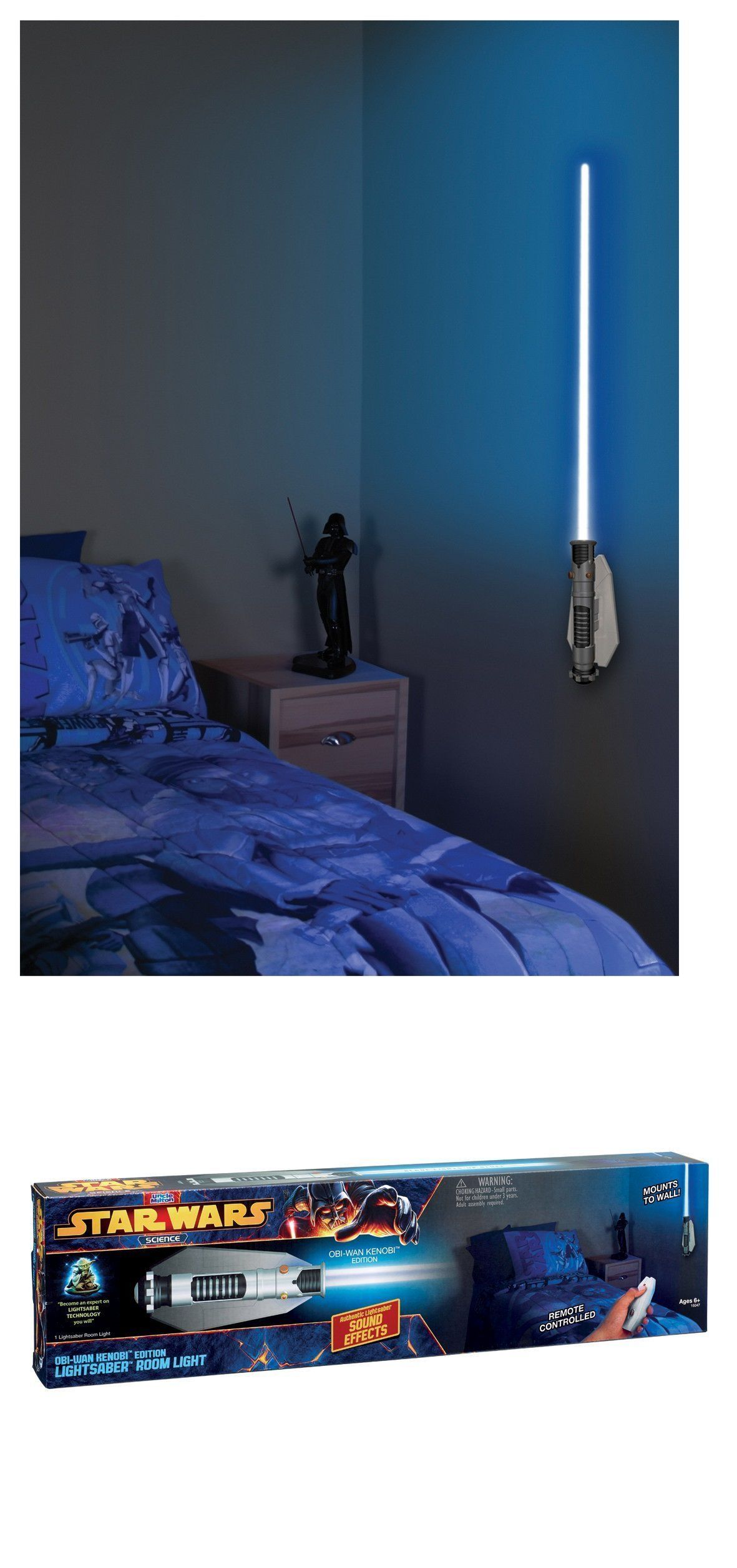 Other Battery Op Toys 1990 Now 38287 Uncle Milton Star Wars Science Obi Wan Kenobi Lightsaber Room Light Star Wars Room Room Lights Star Wars Light Saber