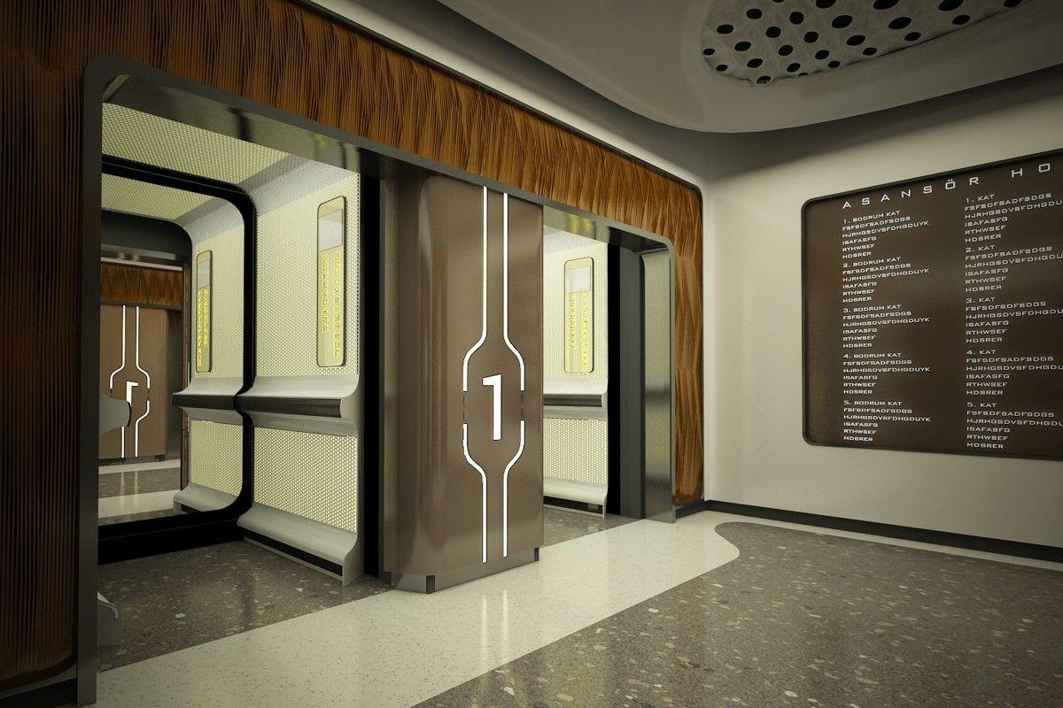 LIV HOSPITAL / ULUS / Render / ELEVATOR HALL / Zoom TPU ...