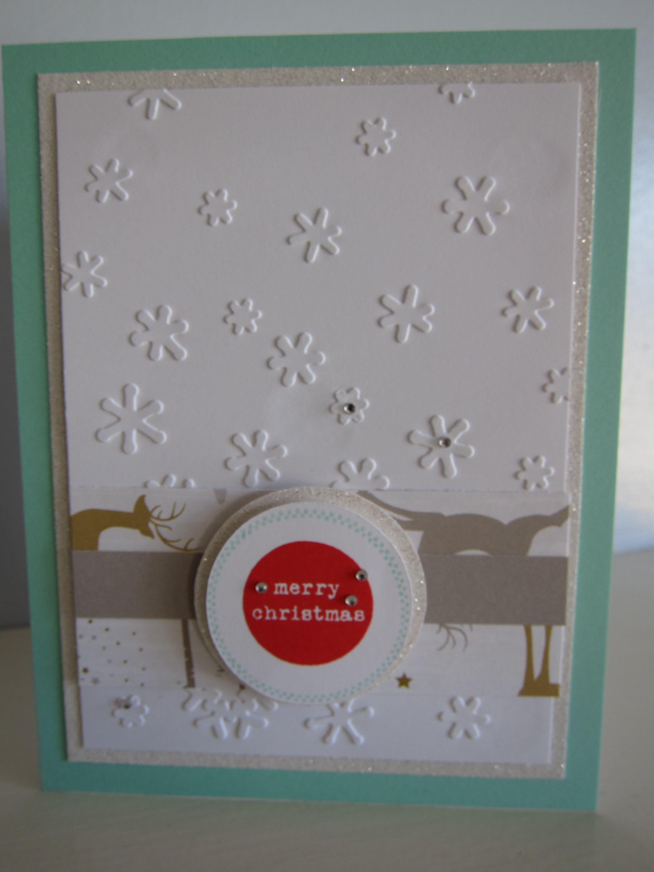 handmade cards ctmh oh deer paper embossing folders