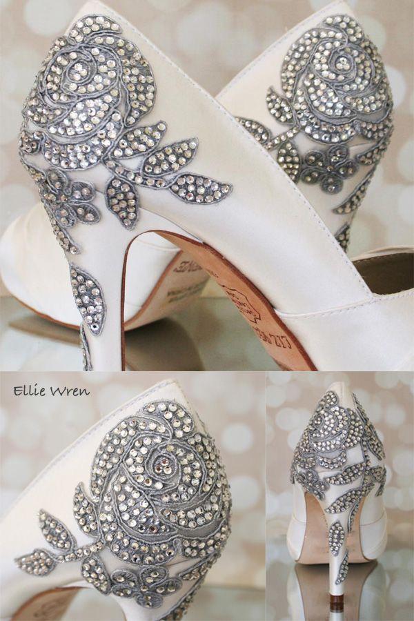 Ivory Wedding Shoes Heel
