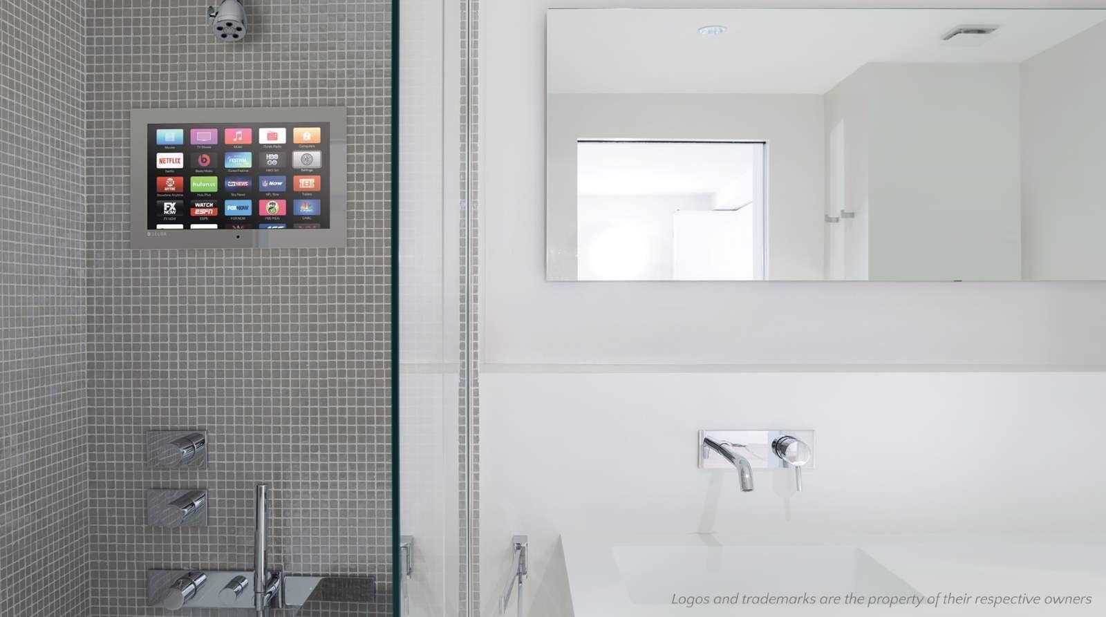 Gray Tiled Shower Waterproof Tv Gray Shower Tile Shower Tvs