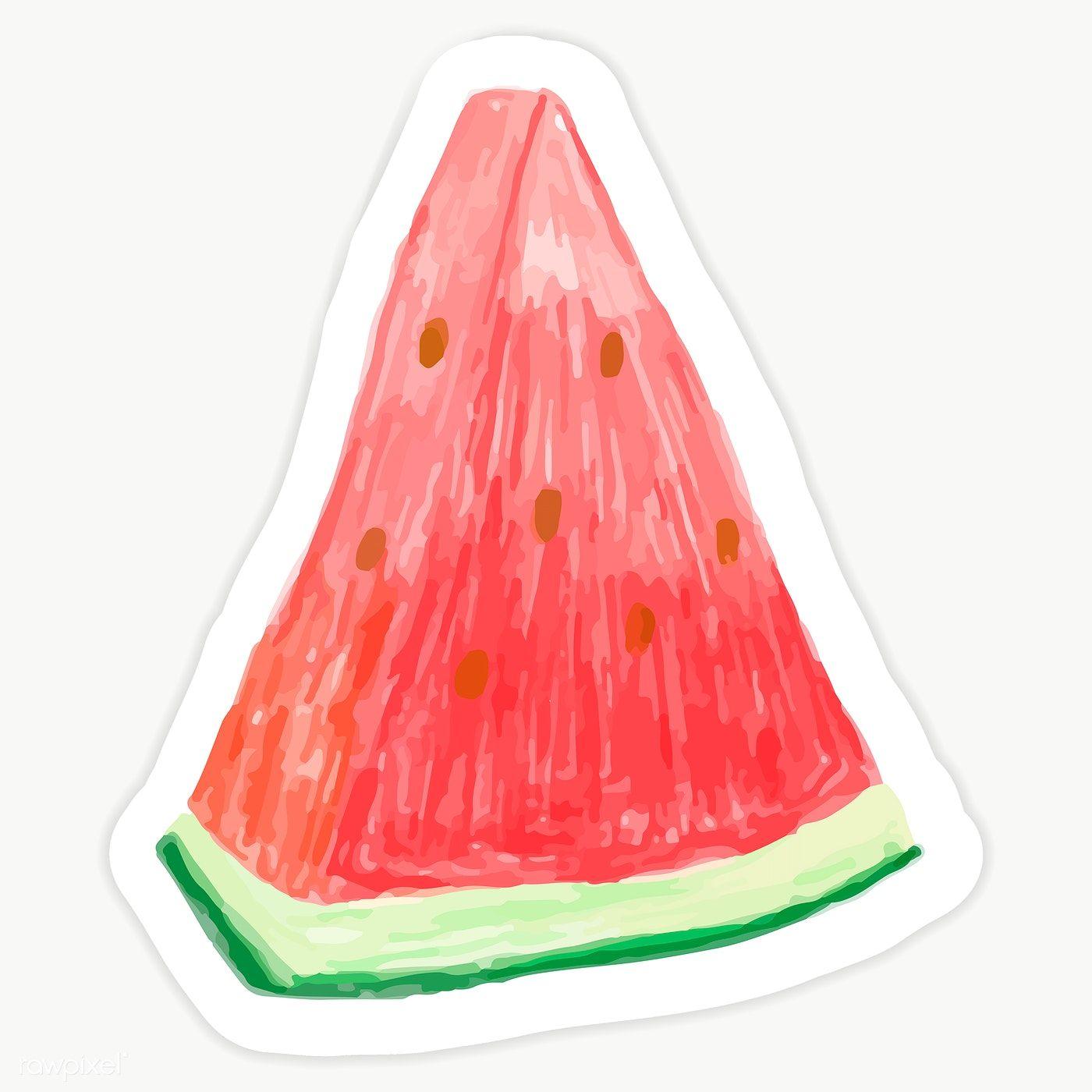 Watermelon Slice Isolated On Transparent Background Premium Image By Rawpixel Com Sasi Watermelon Fruit Cartoon Watermelon Slices