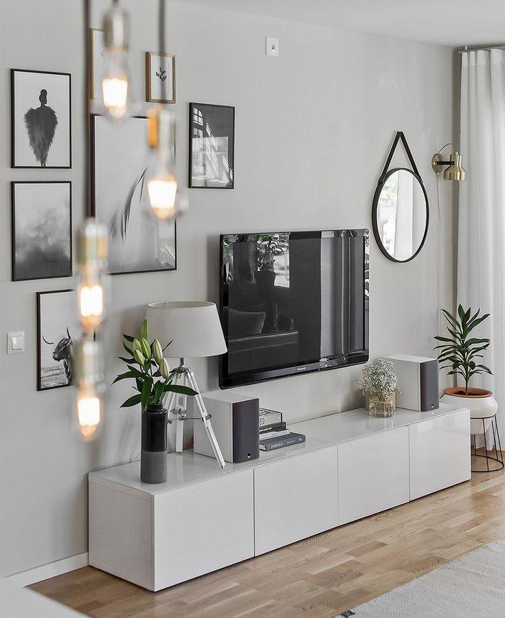 Como decorar paredes misturando elementos #livingroomideas