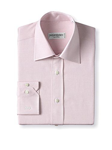 Yves Saint Laurent Men's Tonal Oxford Dress Shirt (Pink)