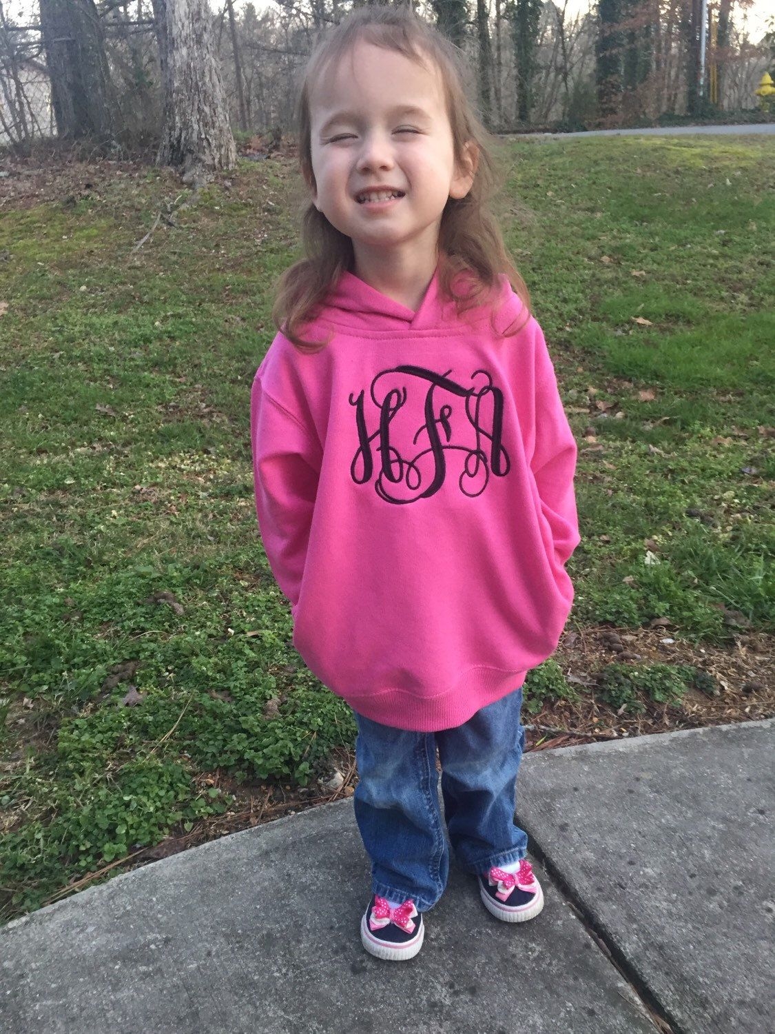 A personal favorite from my Etsy shop https://www.etsy.com/listing/266974551/toddler-monogrammed-hoodie