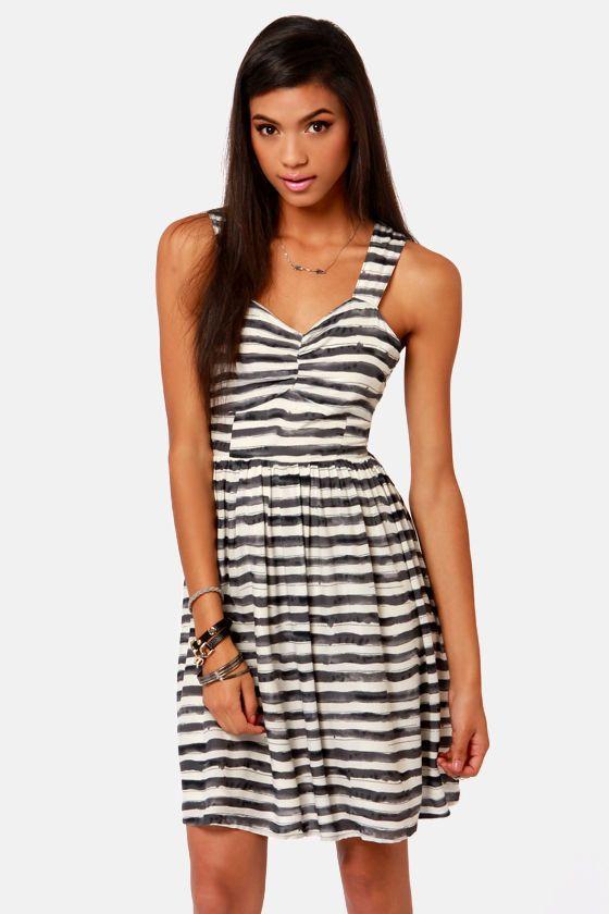 e18d63f57f8 Lavand Dress - Striped Dress - Backless Dress - Sundress -  81.00