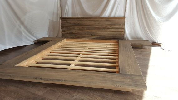Christine Modern Sleek Low Platform Solid Wood Bed By Thelakenest Wood Bed Frame Low Bed Frame Solid Wood Bed