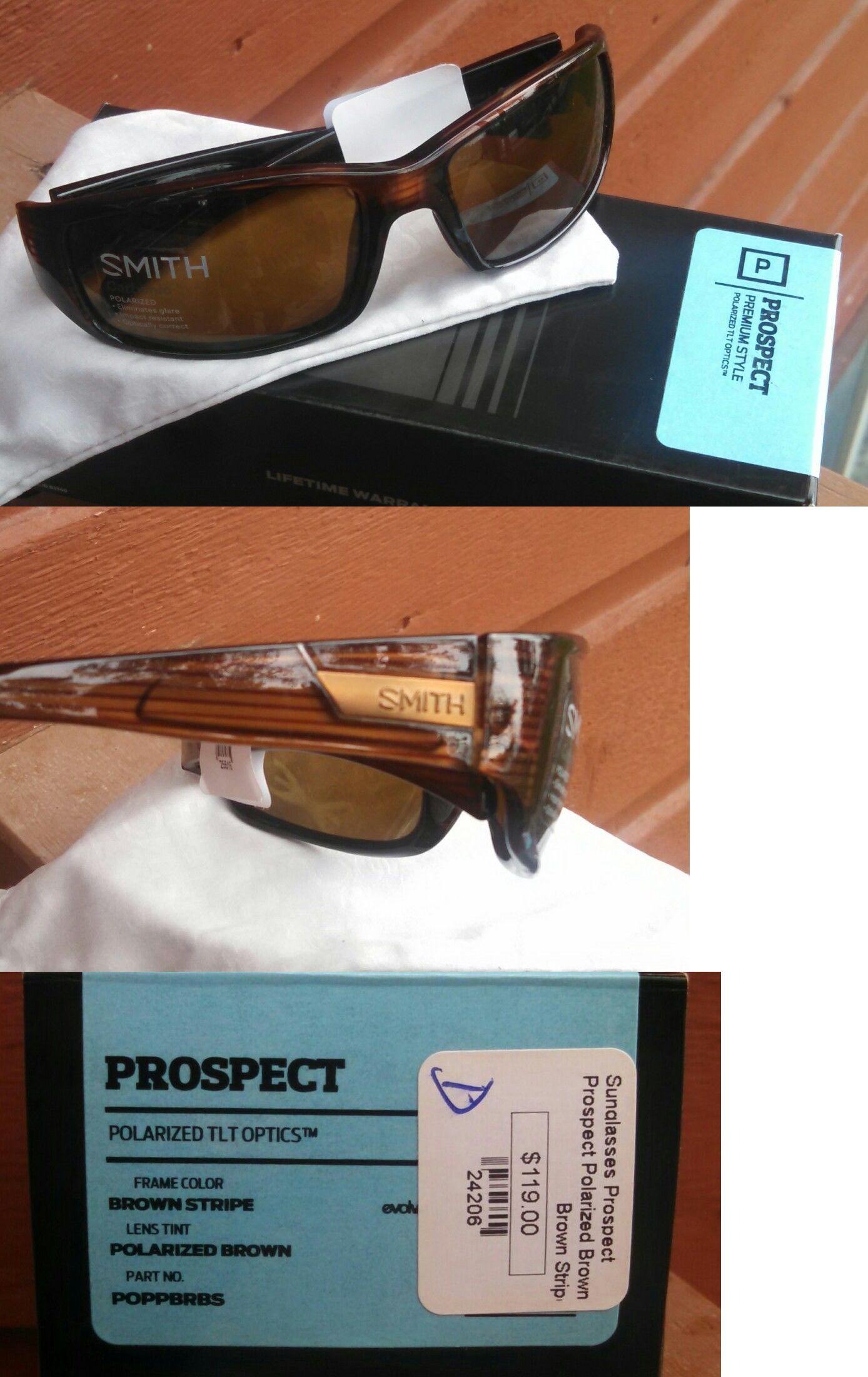 1f7897e105 Sunglasses and Goggles 56185  Smith Optics Prospect Sunglasses Polarized  Brown Carbonic Tlt Lenses -