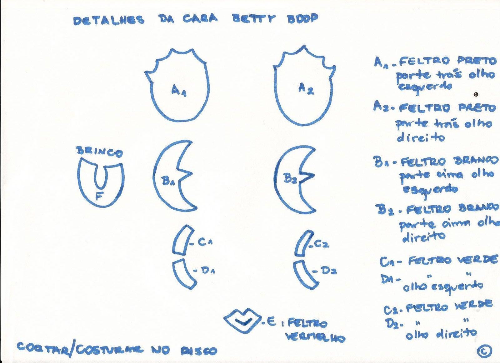 Las chorradikas de Laury: Patrón Betty Boop para broche   betty ...