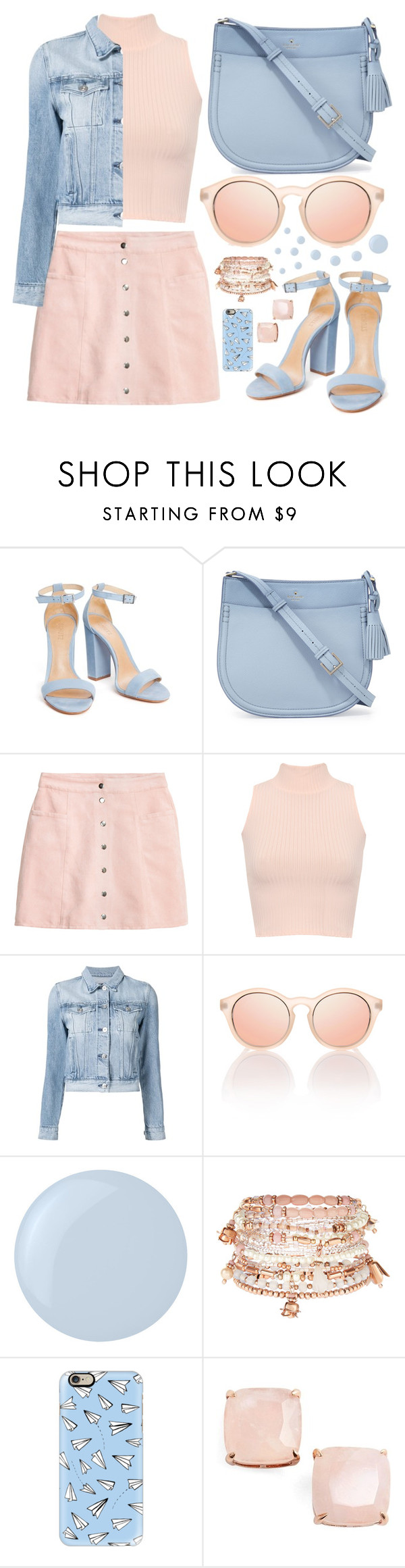 """""""...Baby blue..."""" by sanela-enter ❤ liked on Polyvore featuring Kate Spade, WearAll, 3x1, Essie, Accessorize and Casetify"""