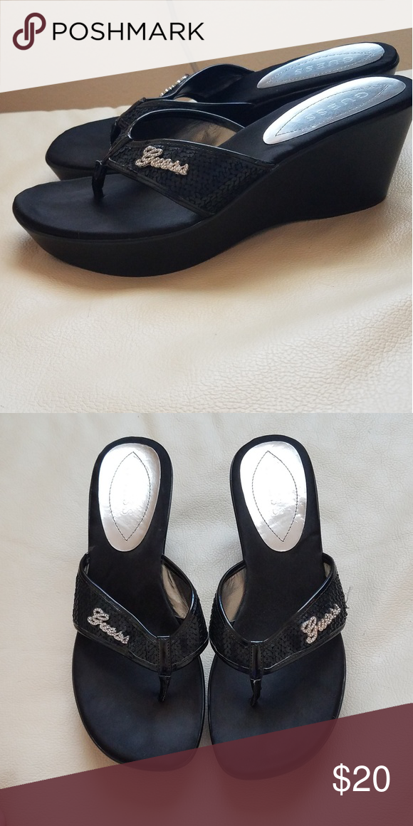 Lettering Sandalsshoes With Black Guess Silver Dcxwqboer Sandals SUMqzpV