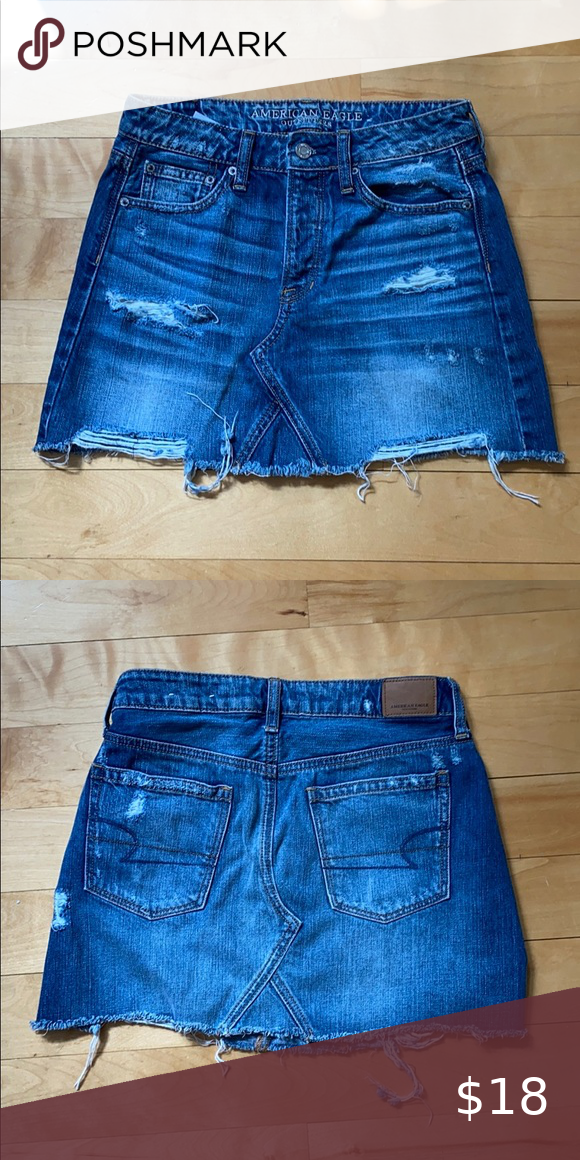 NEW! AE denim mini skirt