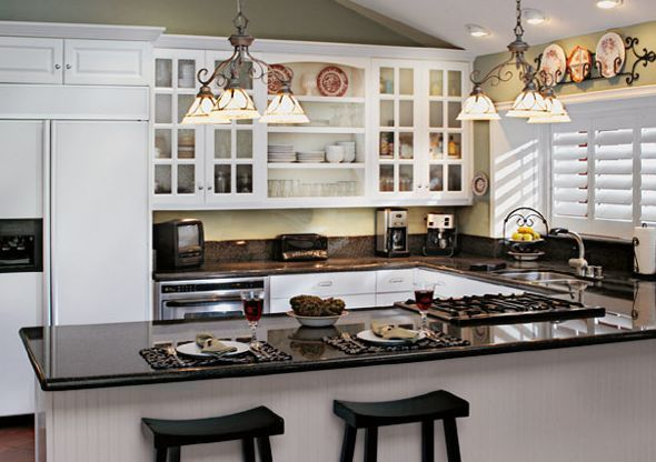Find Your Ideal Kitchen Layout: Ideas For Every Home: Designs For Small  Kitchens: More Ambient Light With White Cabinets