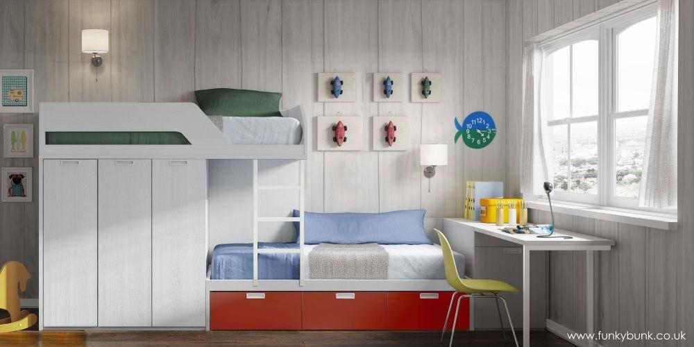 //.funkybunk.co.uk/user/cimage/staggered-bunk-bed-3-maximum-storage -triple-wardrobe-desk-white-red-1000x500-.funkybunk.co.uk.jpg & http://www.funkybunk.co.uk/user/cimage/staggered-bunk-bed-3-maximum ...