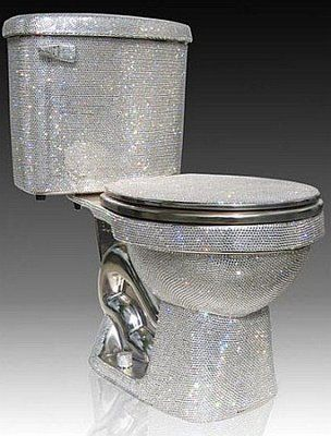 Incredible This Bling Iced Out Toilet Is Fully Encrusted With Swarvoski Gamerscity Chair Design For Home Gamerscityorg