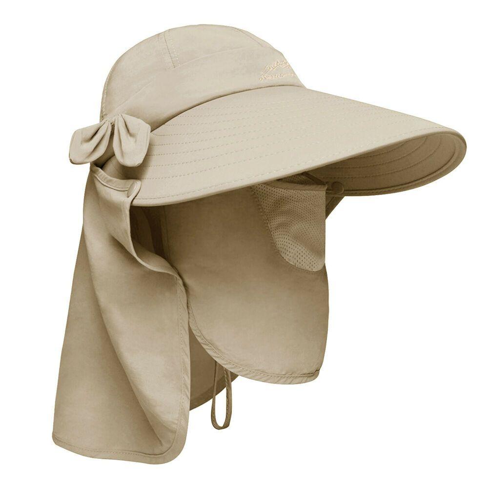 0509f849 Boonie Snap Hat Brim Ear Neck Cover Sun Flap Cap Visor Fishing Hiking  Garden Men #