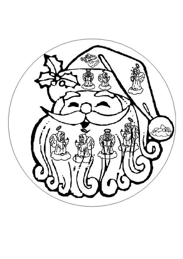 Mandala Navidad Para Pintar Colorear Facil Pictures | Mandalas ...