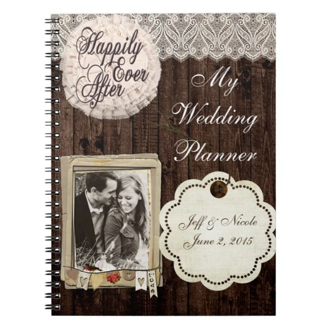 Rustic Country Couple Wedding Planner Notebook | Zazzle.com | Wedding planner binder, My wedding ...