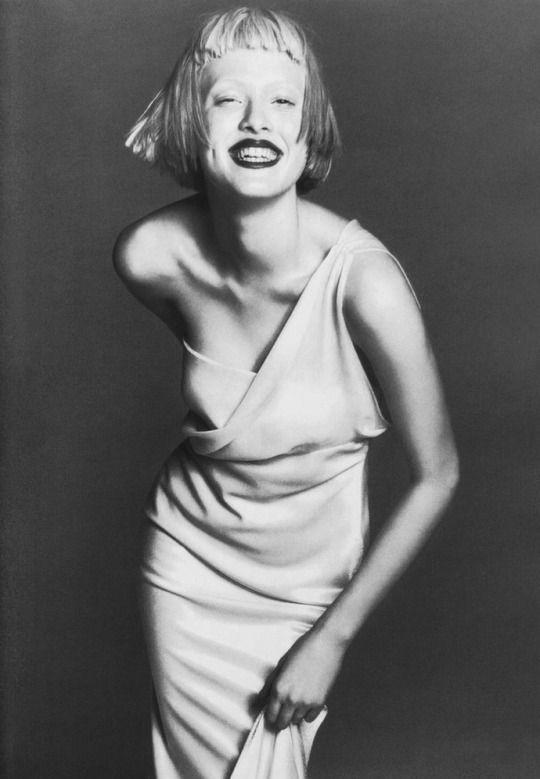 Gianni Versace Fall 1997 Lookbook Photographer: Richard Avedon Model: Karen Elson