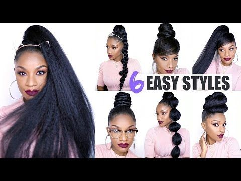 6 Ways To Style A Drawstring Ponytail Quick Amp Easy Hairstyles Youtube Ponytail Hairstyles Easy Hair Ponytail Styles Ponytail Styles