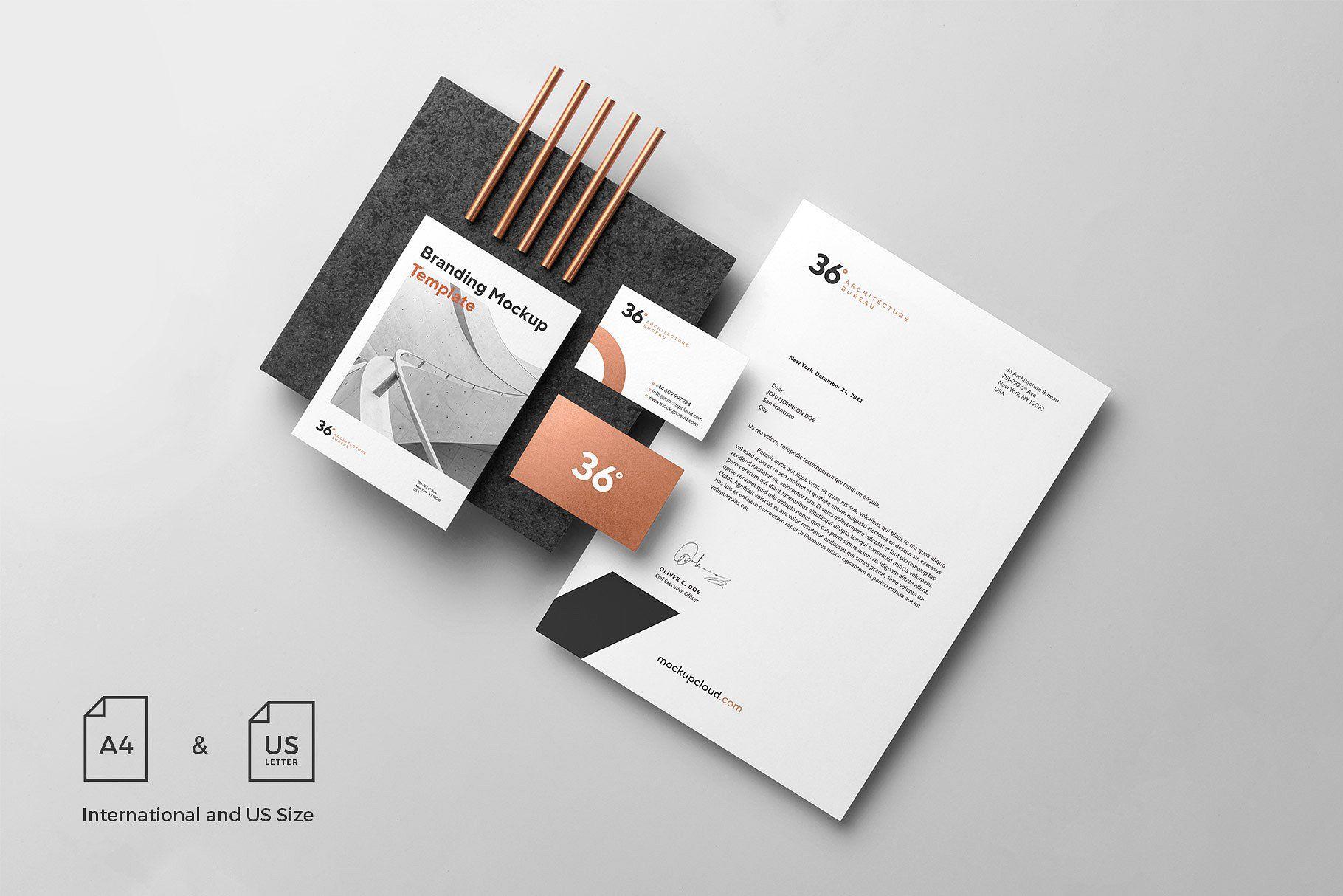 Copperstone Branding Mockup Vol 1 Branding Mockups Branding Branding Template
